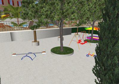 бассейн и детская площадка...