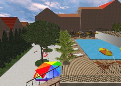 бассейн и детская площадка....